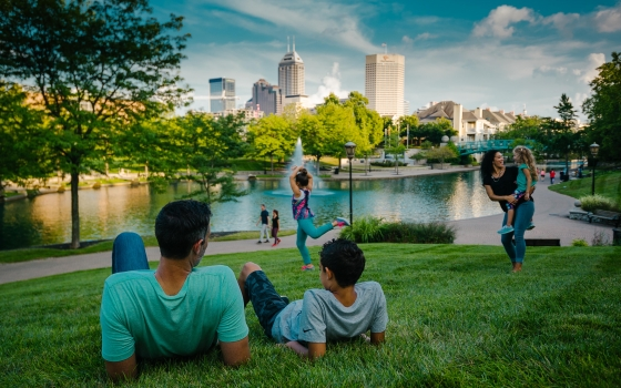 Enjoy Downtown Indy's vibrant public spaces