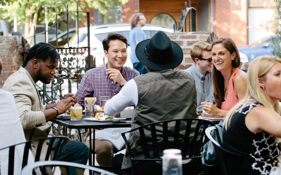 Dine Outdoors At One Of Many Downtown Restaurants