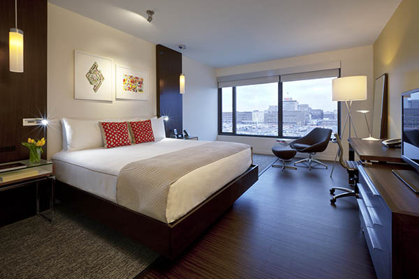 Be inspired by the Alexander Hotel's modern art and contemporary rooms.
