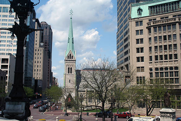 Christ Church Cathedral was founded in 1837 and is the oldest religious building in continuous use in Indianapolis.
