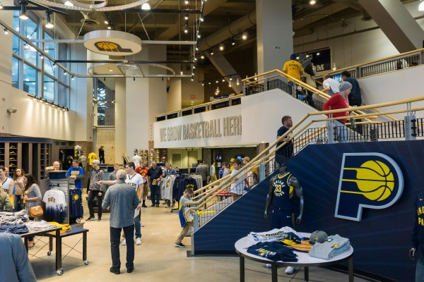 Downtown Indy   Pacers Team Store